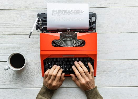 orange typewriter